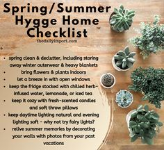Continue cozy hygge living at home in warm weather with this list to hygge-fy yo. - Continue cozy hygge living at home in warm weather with this list to hygge-fy your home in spring a - Diy Tumblr, Summer Hygge, Interior Design Minimalist, Hygge Life, Slow Living, Spring Cleaning, Cozy House, Planting Flowers, Decoration