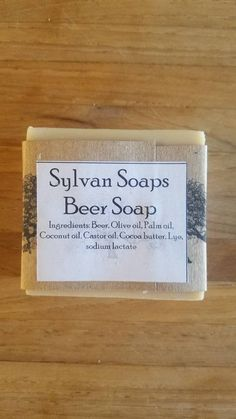 Soap made with Beer! Beer soap contains hops, Vitamin B and brewers yeast which are all great for you skin