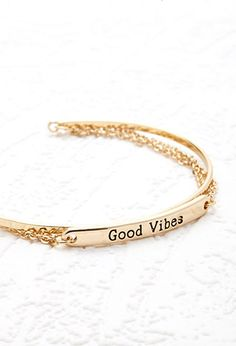 Layered Good Vibes Cuff | Forever 21 - 1000115422
