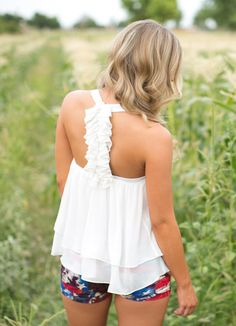 Suddenly It's Spring Top - White from Closet Candy Boutique