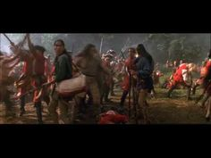 the last of the mohicans battle - YouTube