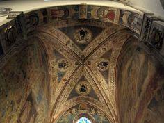 Giovanni del Biondo - I Quattro padri della chiesa - affresco - 1350 - Cappella Strozzi di Mantova - Basilica di Santa Maria Novella, Firenze