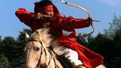 마상무예, Korea traditional archer on horse. korea horn bow is smallest and striongest.  Korea Horn bow is smallest of world . It has very elasticity and Power.