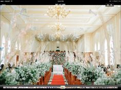 Sampaguita arrangement at tukon church batanes awesome church set up using twigs and pink orchids with asters at mendez iglesia ni cristo junglespirit Images