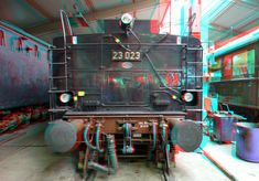 Rotterdam, 3d Photo, Train, Red, Strollers