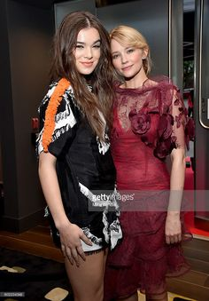 Actresses Hailee Steinfeld (L) and Haley Bennett attend Entertainment Weekly's…