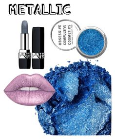 """Metallic makeup"" by imsailormars ❤ liked on Polyvore featuring beauty, Urban Decay, Lime Crime, Obsessive Compulsive Cosmetics and Christian Dior"