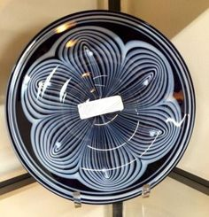 "Art Glass Bowl   11"" Diameter  $40  Rubbish Designer Vintage Finds Dealer #3501  Lucas Street Antique Mall 2023 Lucas Dr. Dallas, TX 75219  Like us on Facebook: https://www.facebook.com/p"