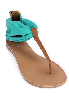 Deb Shops flat #sandal with scarf ankle