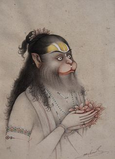 """""""In Thought of Mentor"""" by Mahaveer Swami. Contemporary Bikaner style."""