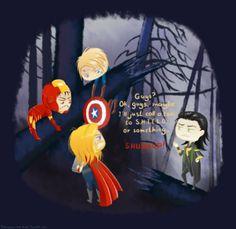 Loki thor captain America ironman