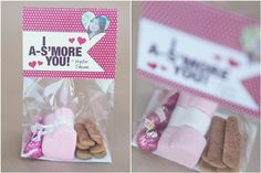 """I A-S'more you"" Cheesy, but cute Valentine. DIY Kids Valentine Cards - 7 on a Shoestring"