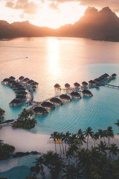 Beautiful Places Discover Bora Bora Pearl Beach Resort in Bora Bora French Polynesia. Vacation Places, Vacation Destinations, Dream Vacations, Vacation Spots, Romantic Vacations, Italy Vacation, Romantic Travel, Vacation Resorts, Vacation Travel