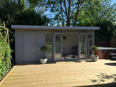 The kite contemporary garden room has become our most popular building, as it ha. - The kite contemporary garden room has become our most popular building, as it has a great combinati - Timber Buildings, Garden Buildings, Outdoor Buildings, Summer House Garden, Home And Garden, Garden Rooms Uk, Summer Houses Uk, Large Summer House, Outdoor Garden Rooms