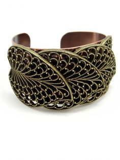 Bronze and Gold Leaf Cuff by Sweet Romance - $42.00 : FashionCupcake, Designer Clothing, Accessories, and Gifts