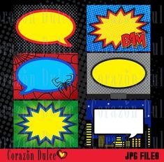 Tarjetas imprimibles de Super Héroes  - etiquetas, tarjetas, calcomanías, tarjetas de niños, tarjetas de regalo, etc...DESCARGA AUTOMÁTICA
