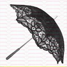 Vintage Bügelbilder  Nostalgie Regenschirm DIN A4