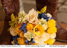 Summer wedding. Bouquet by: Liberty High School. Bealeton, VA