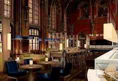Former Book Office (now Bar) : Marriott - London MarketPlace @ Hansom Hall. St Pancras Renaissance London Hotel. Euston Road, NW1