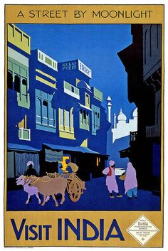 travel poster for   India