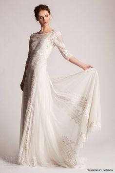 "Wedding Bridal Dresses // Inspirations // long sleeves wedding dresses // #wedding #dresses ""bridal"