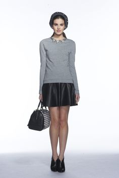 Banana Republic Fall 2013 Ready-to-Wear Collection Slideshow on Style.com  Cute leather skirt. Little longer with tights and flats.