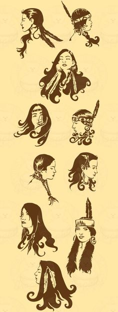 Native American hairstyle
