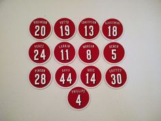 Cincinnati Reds magnets for your fridge! These magnets are unique and fun presents for any Cincinnati Reds fan. Magnets are made from flexible magnets. Any of the listed Cincinnati Red players. Magnets are made in Canada. Cincinnati Reds, Christmas Presents, Magnets, Popular, Baseball, Design, Finches, Xmas Gifts