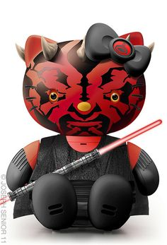 Darth Maul meets Hello Kitty