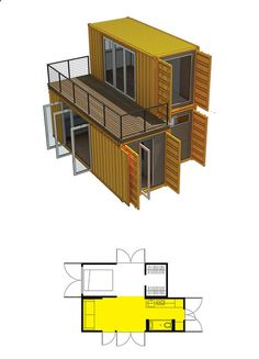 Who Else Wants Simple Step-By-Step Plans To Design And Build A Container Home From Scratch? Container Office, Storage Container Homes, Storage Containers, Building A Container Home, Container Buildings, Shipping Container House Plans, Shipping Containers, Modular Homes, Future House