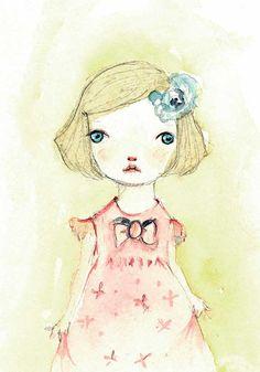 My+Pink+dress+portrait+print+8x11+inches+by+holli+on+Etsy,+$20.00, pretty pretty, pretty