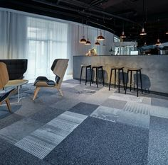 MONDAY INSPO:  Mix & Match carpet tiles at CHOICE HOTEL HØJE TAASTRUP, DENMARK.  What do you think?