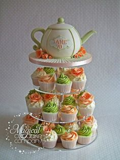 tea pot cake | Teapot Cake and Cupcakes - by TheMagicalCupcakeCo @ CakesDecor.com ...