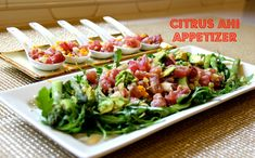 Citrus Ahi Appetizer - 2 ways | a fresh and healthy WeekNight Bite recipe