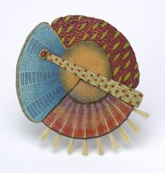 Kathleen Dustin: Tribal Pin with Brushes. See Vicki Grant, Kathleen's inspiration.