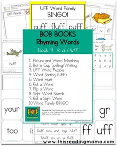 FREE BOB Books Printables for - Rhyming Words, Book 9 and Book 10 | This Reading Mama