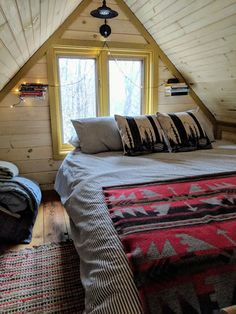 Crooked River Tiny House - Tiny houses for Rent in Waterford, Maine, United States Tiny Cabins, Tiny House Cabin, Cabins And Cottages, Tiny Houses For Rent, Sleeping Loft, Dining Nook, Finding A House, Home Photo, Maine