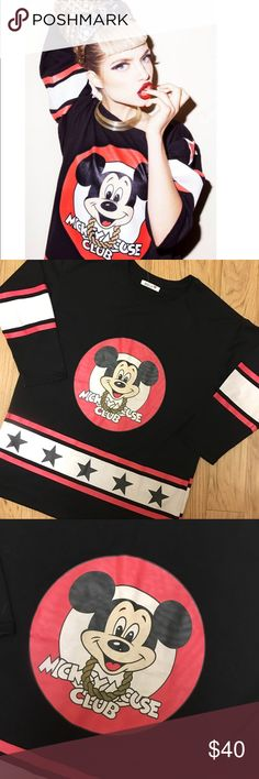 🆕 Adele UK Mickey Mouse Club Oversized 3/4 Tee Excellent used condition, no flaws. Adele Tops Tees - Long Sleeve