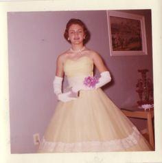 #vintage #prom #dress #1950s