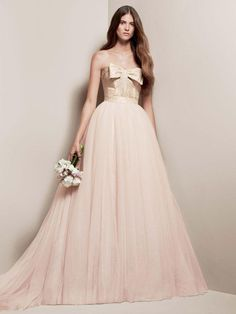 Blush Wedding - Blush Wedding Dress From David.