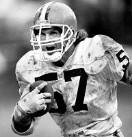 Clay Matthews, Jr.: LB Cleveland Browns 1978-93, Atlanta Falcons 1994-96. Played 278 Games in 19 Seasons. Oldest Player to record a QB Sack at age 40. Comes from a Football Family: Father Clay played for the 49ers, Brother Bruce played for the Oilers/Titans and his son, Clay III currently plays for the Packers.