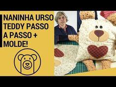 Naninha Urso Teddy Com Zíper e Molde Aula Passo a Passo | Cantinho do Video Costura em Roupas