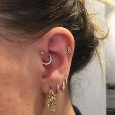 """244 Likes, 4 Comments - Kevin (@kevinthepiercer) on Instagram: """"Had a lot of fun putting this CZ horizontal eternity into this clients daith yesterday. . . .…"""""""