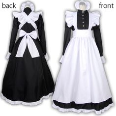 Women Maid Cosplay Carnival Halloween Costume Black Dress with White Apron Full Set Outfit Female Fancy Dress Costume Plus Size. Maid Outfit, Maid Dress, Victorian Maid, Lolita Mode, French Maid Uniform, Maid Cosplay, Princess Dress Kids, Costume Dress, Lolita Fashion