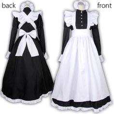 Women Maid Cosplay Carnival Halloween Costume Black Dress with White Apron Full Set Outfit Female Fancy Dress Costume Plus Size. Style Lolita, Lolita Mode, Maid Outfit Cosplay, Victorian Maid, French Maid Uniform, Princess Dress Kids, Maid Dress, Lolita Dress, Costume Dress