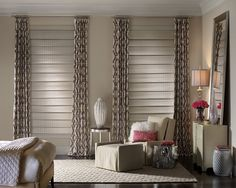 Woven wood window treatments are available through Georgia Blinds and Interiors, your Atlanta Hunter Douglas Gallery Showroom. Hunter Douglas Blinds, Wooden Shades, Master Bedroom Window Treatments, Window Styles, Wooden Blinds, Woven Wood Shades, Comfortable Bedroom, Window Treatments Bedroom, Window Treatments