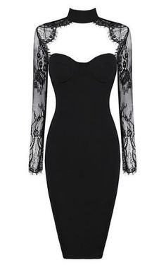 Tiffany Black Lace Bandage Dress this is beautiful for my emoness Women's Dresses, Evening Dresses, Fashion Dresses, Sleeveless Dresses, Casual Dresses, Strapless Dress, Little Black Dress Outfit, Black Dress Outfits, Dress Black