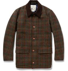 PRIVATE WHITE V.C. - LIGHTLY-QUILTED HARRIS TWEED JACKET
