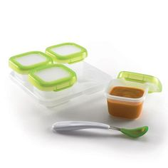 [Oxo] Baby Blocks Freezer Storage Containers - 4 Ounce Set