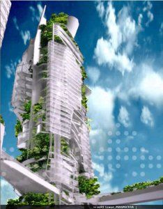 """>Atualmente, enquanto se aguarda a construção em Cingapura, o EDITT Tower será um modelo de """"Efarmacológicos Design Eun Tele Tropics """". Projetado por TR Hamzah & Yeang e patrocin…"""